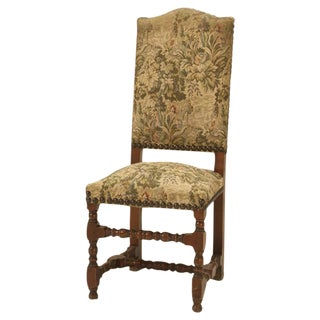 French Vintage Louis XIII Style Dining Chairs