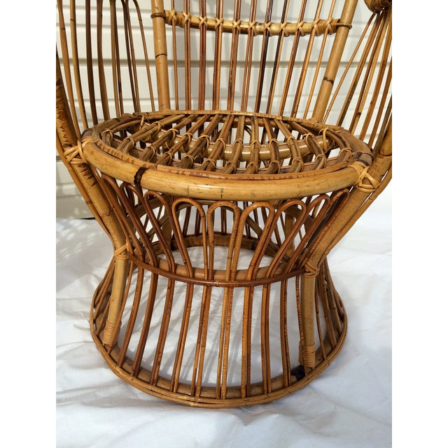 Boho Chic Rattan Chairs - A Pair - Image 3 of 9