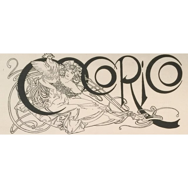 Vintage French Mucha Lithographic Print, C.1895 - Image 3 of 3
