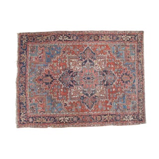 Distressed Heriz Carpet- 7′1″ × 9′5″