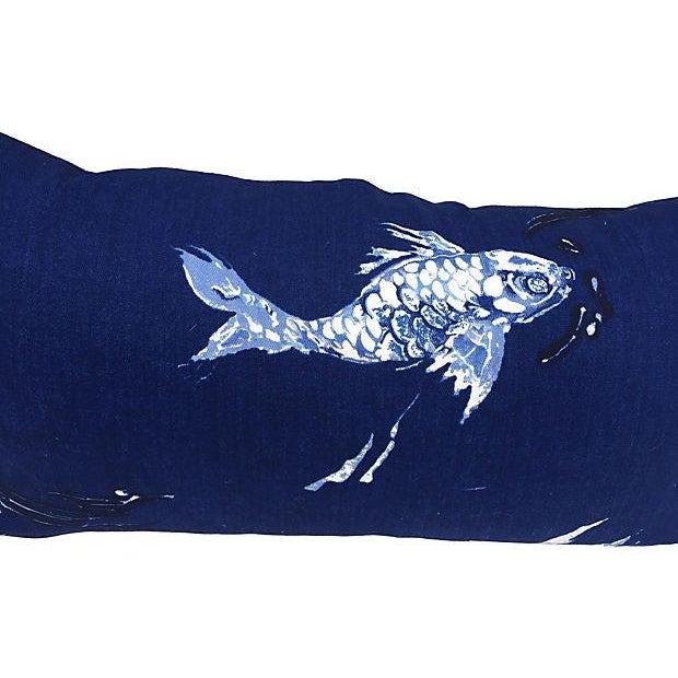 Ralph Lauren Indigo Koi Fish Pillows - A Pair - Image 4 of 7