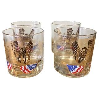 Couroc American Eagle Old Fashioned Glasses - 4