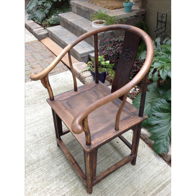 Image of Antique Chinese Horseshoe Shandong Chair