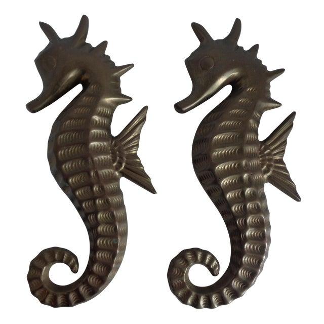 Image of Mid Century Seahorse Wall Hangings - Pair