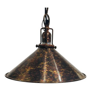 Copper Industrial Pendant Light