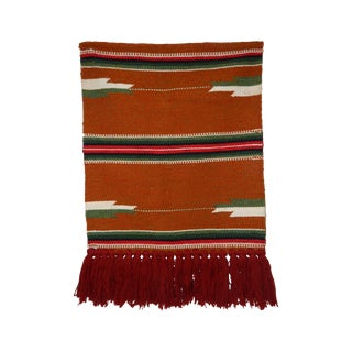 Handwoven Wall Tapestry in Southwestern Colors