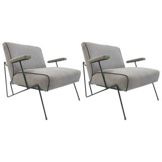 Pair Wrought Iron Lounge Chairs by Maurizio Tempestini for Salterini