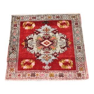 Vintage Oushak Rug Doormat - 2′5″ × 2′6″