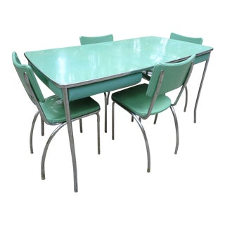 Jade Mid Century Jadite & Chrome Howell Dinette Set