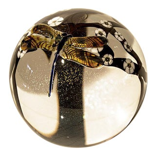 "Zellique ""Dragonfly"" Limited Edition Glass Paperweight"