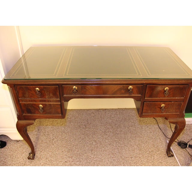 Antique Traditional Wool Writing Desk - Image 5 of 9