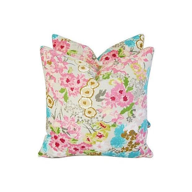 Image of Designer Harlequin Florica Chenille Pillows - Pair