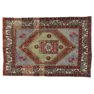 Tribal Design Turkish Oushak - 5′8″ × 8′6″