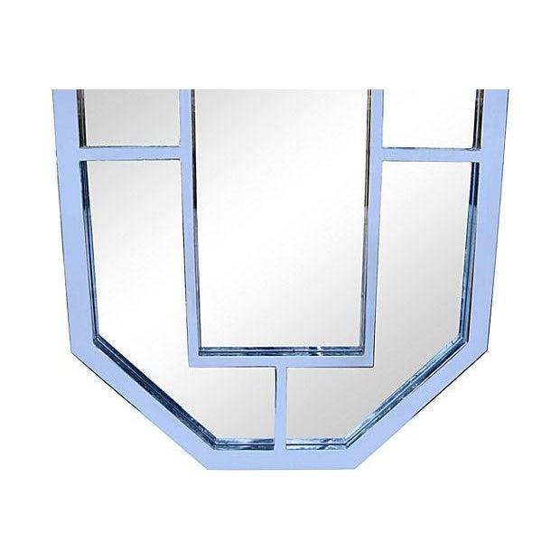 Milo Baughman Octagonal Chrome Mirror - Image 3 of 3