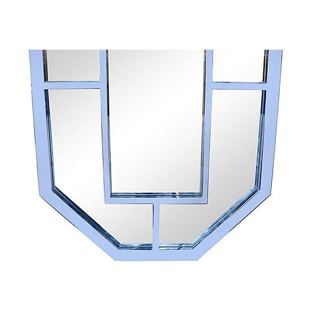 Image of Milo Baughman Octagonal Chrome Mirror