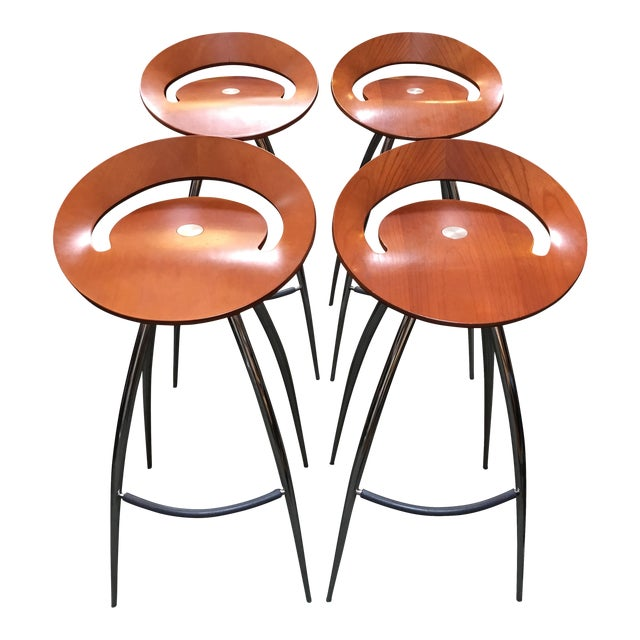 Lyra Magis Bar Stools - Set of 4 - Image 1 of 10