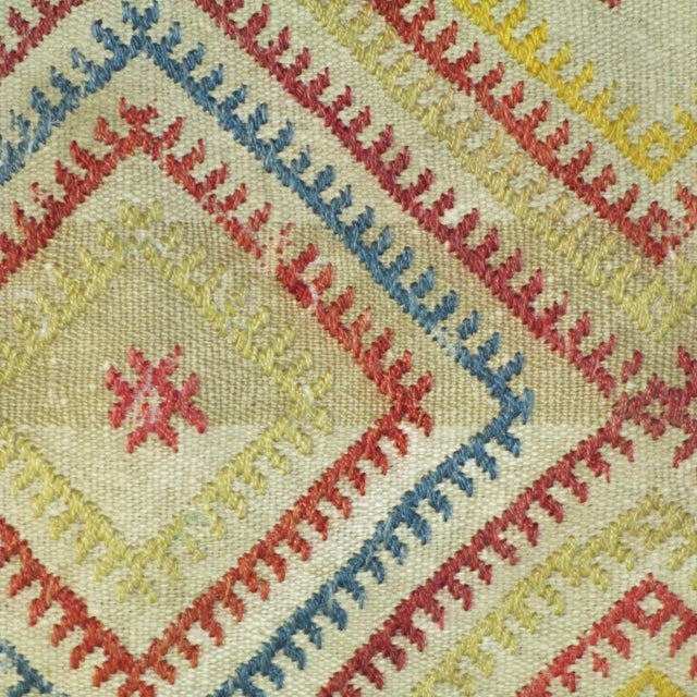 Vintage 1960s Turkish Kilim Pillow Cover - Image 4 of 4