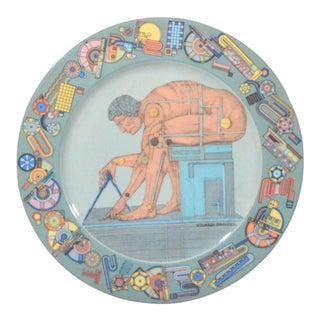 "Rosenthal Eduardo Paolozzi ""After Newton"" Porcelain Plate"