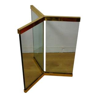 Leon Rosen Pace Modern Glass & Brass Pedestal Table Base