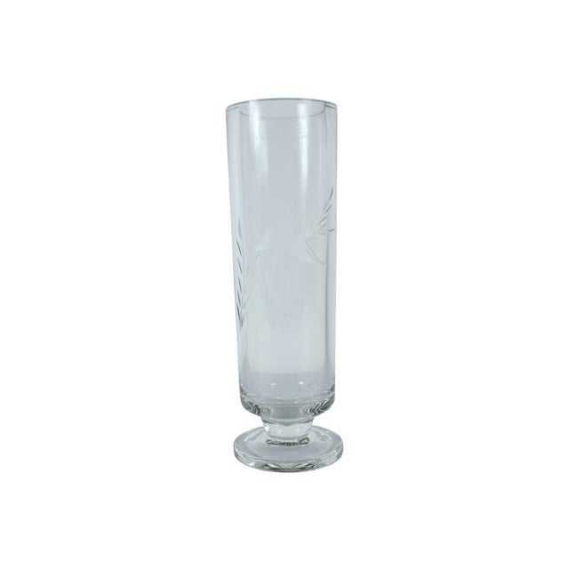 Image of Hummingbird Etched Glass Vase