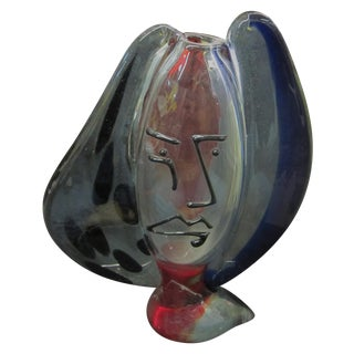 Vintage Murano Signed Art Glass Sculpture