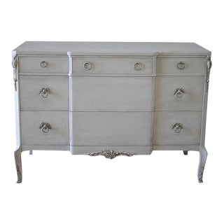 Vintage Painted Louis XV Style Chest of Drawers