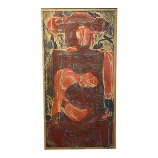 "Clay Walker ""Mechanical Man"" Woodcut/Relief Print"
