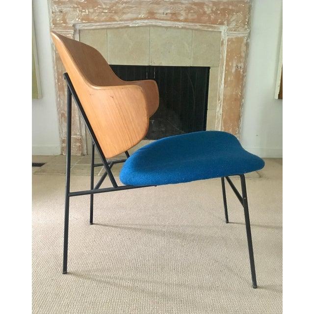 "Image of Kofod Larsen ""Penguin"" Chair in Blue"