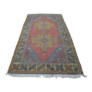 Turkish Handwoven Wool Rug - 4′7″ × 8′7″