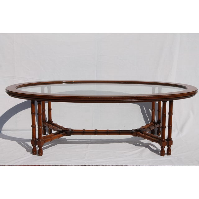 Image of 1960's Mid-Century Faux Bamboo Coffee