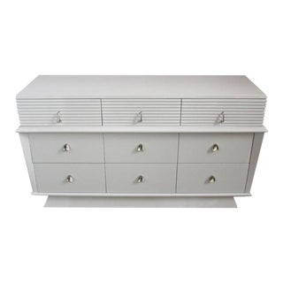 American Mid Century Modern Lacquered Low Chest of Drawers