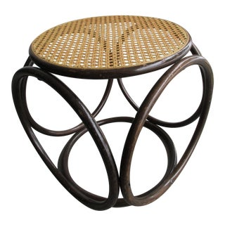 Thonet Style Cane and Bentwood Stool