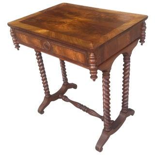 Antique 19th C. Barley Twist Legs Writing Desk