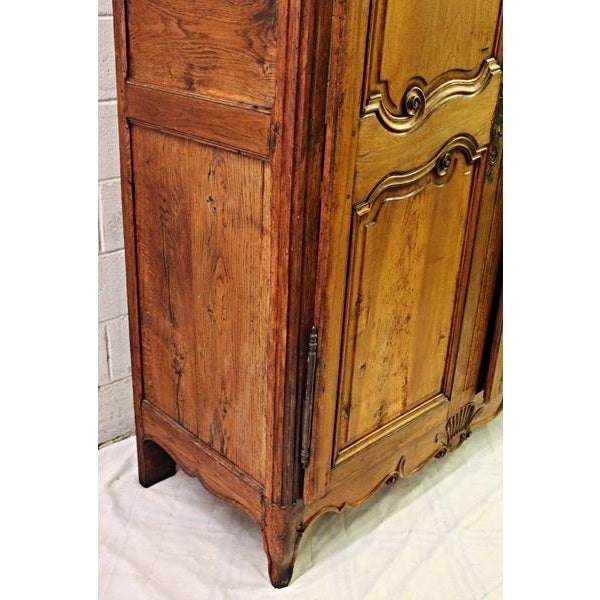 18thC Large French Country Wooden Armoire - Image 8 of 10