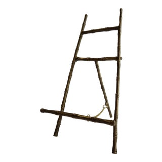 Brass Faux Bamboo Easel