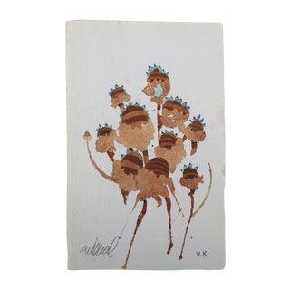 """Lakeside Teasel"" Original Watercolor"