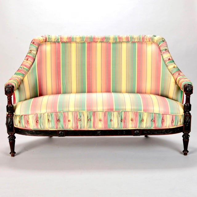 19th Century Spanish Sofa With Turned and Carved Frame - Image 2 of 10