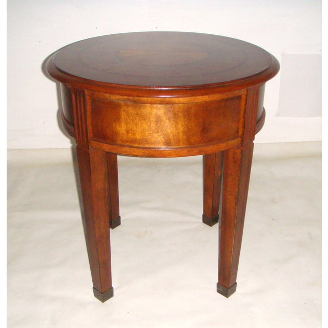 Round Side Table with Inlaid Top - Image 7 of 7