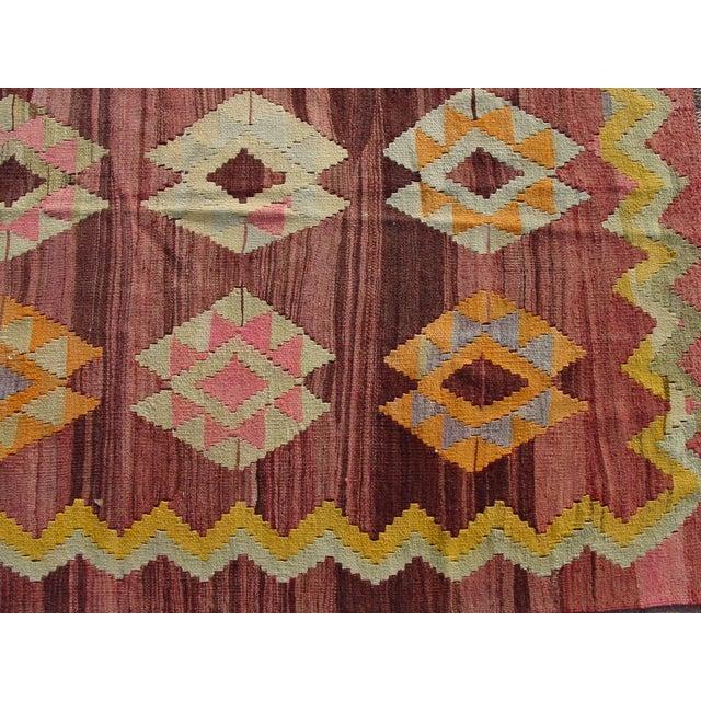 """Vintage Turkish Kilim Rug - 4'11"""" x 6'11"""" - Image 6 of 11"""