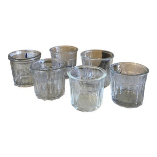 Vintage Glass Jam Jars - Set of 6