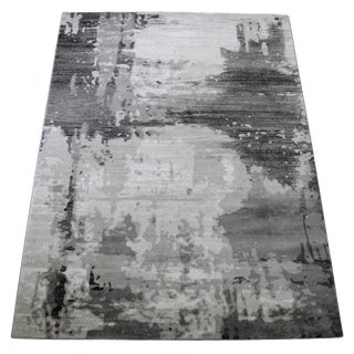 Contemporary Style Gray Abstract Rug - 5'3''x 7'7''