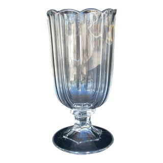 Antique Clear Celery Vase