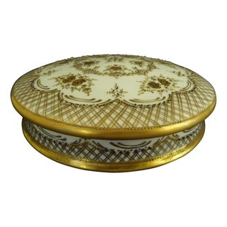 French Limoges Porcelain Hand Painted Vanity Box