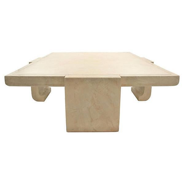 Baker Ming Leather Coffee Table - Image 4 of 7