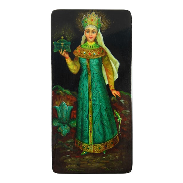 Image of Russian Hand Painted Lacquer Box