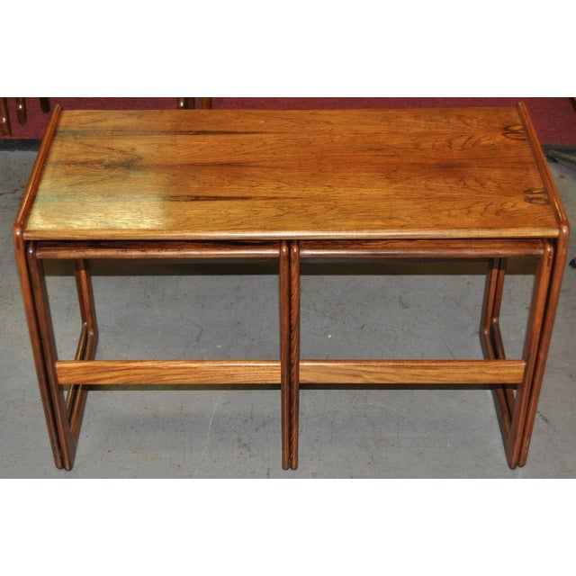 Vintage Rosewood Nesting Coffee Tables C.1960's - Image 2 of 4