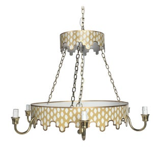 Dana Gibson Taupe Parsi Chandelier