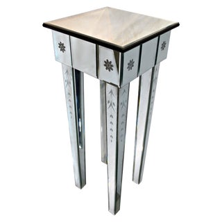 Hollywood Regency Mirrored Side Table