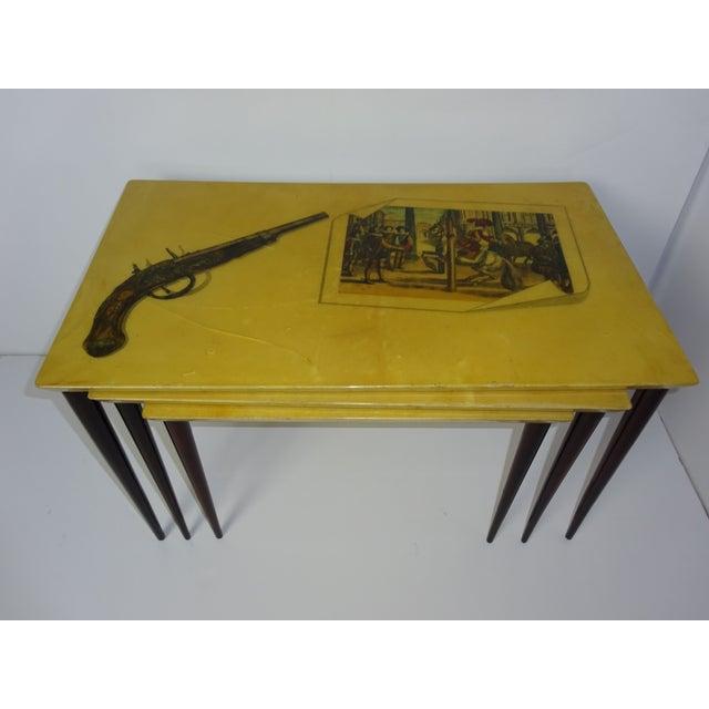 Aldo Tura Parchment Gigogne Tables - Set of 3 - Image 8 of 8