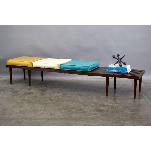 John Keal for Brown Saltman Mid-Century Expandable Slat Bench or Table - Image 4 of 10